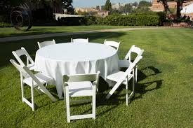 Round Table with a White Cloth